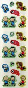 Peanuts Gang Soccer Holographic Stickers