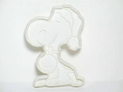 Snoopy Santa - WHITE Cookie Cutter