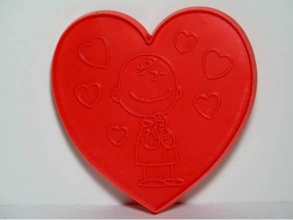 Charlie Brown on heart - RED Cookie Cutter