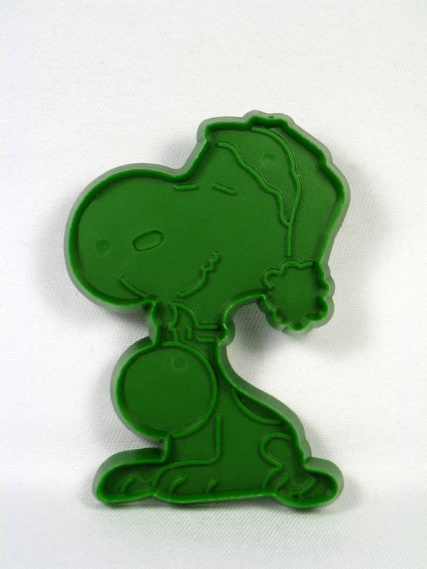 Snoopy Santa - GREEN Cookie Cutter