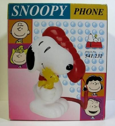 Snoopy Push-Button Corded Telephone With Bank Option