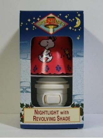 Snoopy Revolving Shade Night Light - Unique!