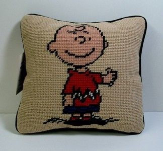 "Charlie Brown ""Needlepoint"" Tapestry Pillow"