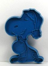 Snoopy Santa - BLUE Cookie Cutter
