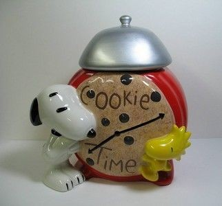Snoopy Cookie Time Cookie Jar