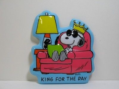 Snoopy King for the Day Cake Topper