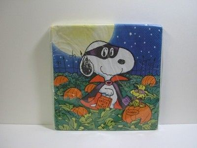 Masked Snoopy Halloween Dinner Napkins