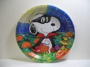Masked Snoopy Halloween Luncheon / Dessert Plates