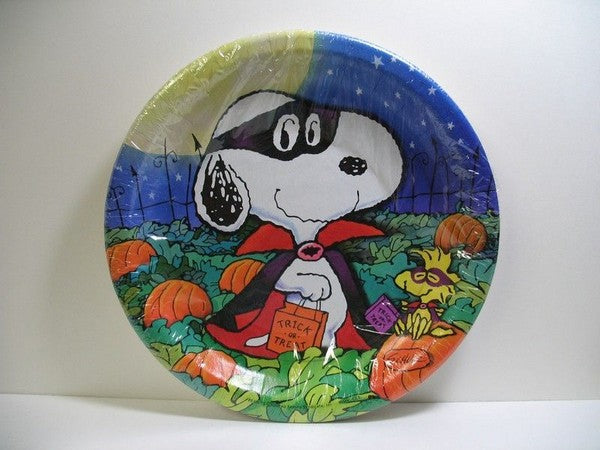 Masked Snoopy Halloween Dinner Plates