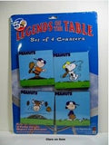 Peanuts Gang Wood Coasters - Baseball