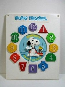 Snoopy Fit A Shape Clock