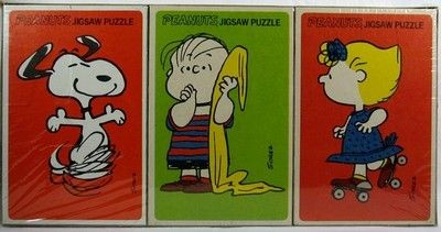 Linus, Sally, and Snoopy Jigsaw Puzzle Set