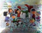 Peanuts Gang Snowman Holographic Jigsaw Puzzle
