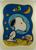 Snoopy Astronaut Frame Tray Wood Puzzle