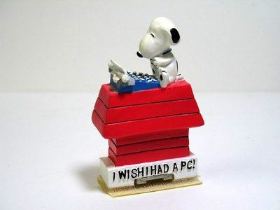 Snoopy Typing PC Note Holder