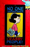 Lucy Crabby People Tin Wall Sign