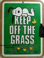 Keep Off The Grass Cork Board - Kelly Green - PRICE REDUCED!