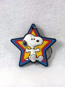SNOOPY STAR vinyl key chain