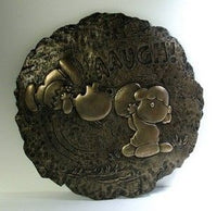 Charlie Brown and Lucy Stepping Stone / Plaque - Antique Bronze