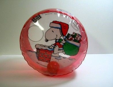Snoopy Santa Inflatable Toy