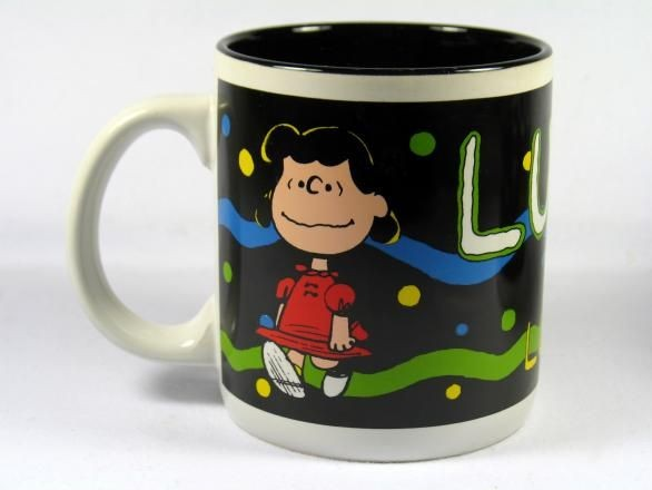 Personalized Black Mug - Lucy