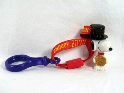 2000 Wendy's Fast Food Toy - Snoopy Clip-On