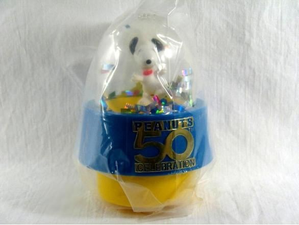 2000 Wendy's Fast Food Toy - Snoopy Confetti Globe