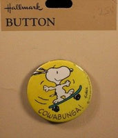 COWABUNGA! PINBACK BUTTON - REDUCED PRICE!