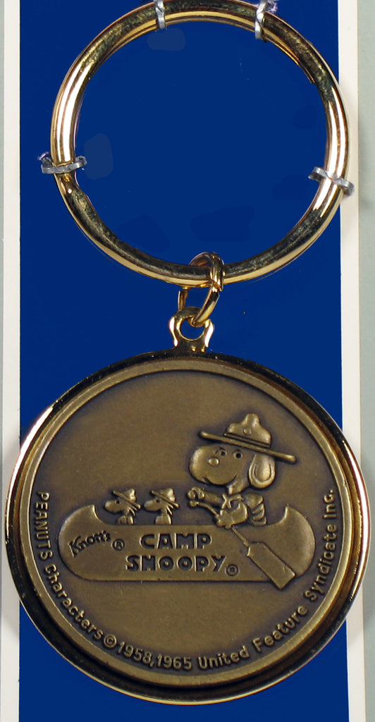 Knott's Camp Snoopy Brass Key Ring