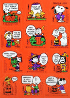 Peanuts Gang Halloween Stickers (1 Sheet)