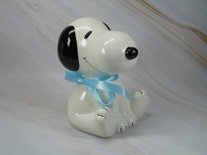 """Baby's First Bank"" Snoopy Bank - Blue"