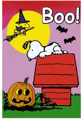 Peanuts Double-Sided Flag - Snoopy Halloween Boo!
