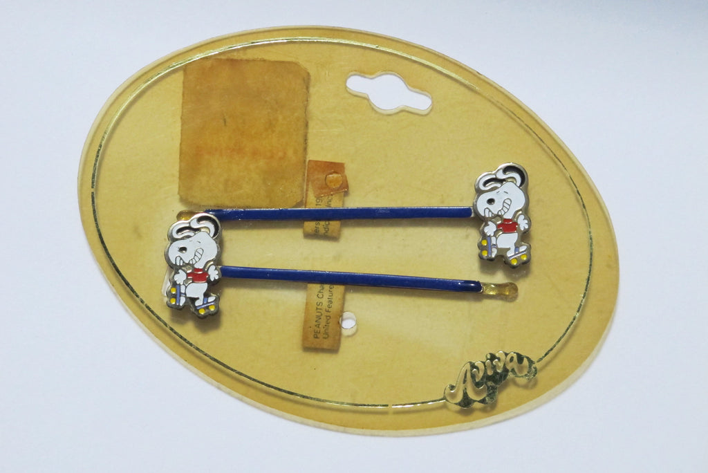 Snoopy Vintage Cloisonne Hair Pin Set