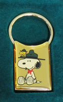 Knott's Camp Snoopy Beaglescout Brass Key Ring
