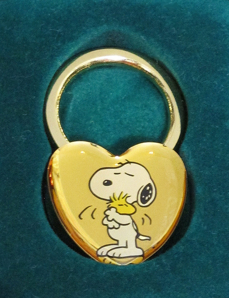Knott's Camp Snoopy and Woodstock Brass Key Ring