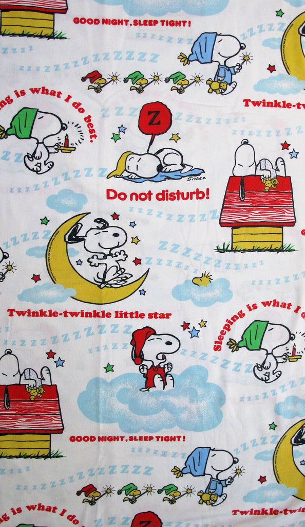 Vintage Peanuts Gang Fitted Sheet - Sleeping Expressions