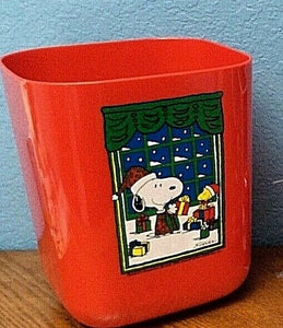 Snoopy Holiday Trash Can (Used)