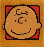 Charlie Brown's Portrait RUBBER STAMP