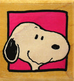 Snoopy's Portrait RUBBER STAMP  (Used But Mint Condition)