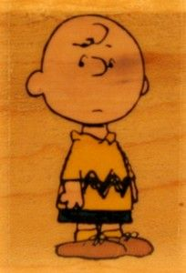 Charlie Brown RUBBER STAMP - Used But MINT Condition