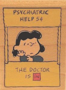 """The Doctor Is In"" (Psych Booth) RUBBER STAMP - Used But NEAR MINT Condition"