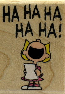 """Ha-Ha-Ha!"" (Sally Laughing) RUBBER STAMP - Used But NEAR MINT Condition"
