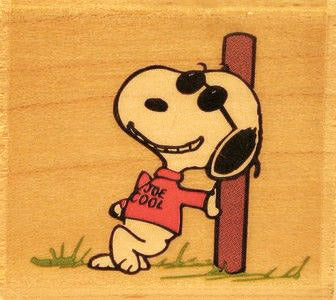 Joe Cool RUBBER STAMP (Used But NEAR MINT Condition)