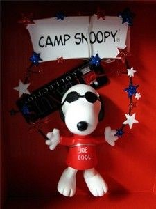 Snoopy Holding Camp Snoopy Sign Ornament