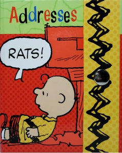 "Charlie Brown Hardback Address Book - ""Rats!"""