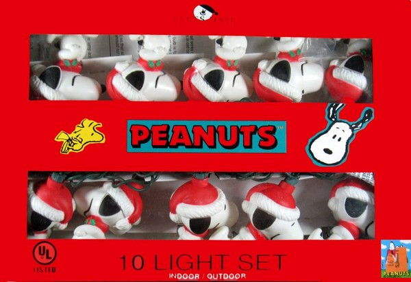 Snoopy Santa String Light Set