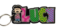 Peanuts Gang Acrylic and Mirrored Key Chain - Lucy