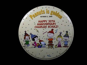 "50th Anniversary ""Peanuts Is Golden"" Cookie Tin"