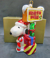 ADLER NORTH POLE SNOOPY POLONAISE CHRISTMAS ORNAMENT