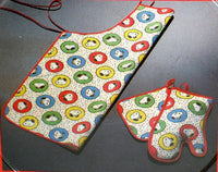 Snoopy Apron, Oven Mitt, and Hot Pad Set